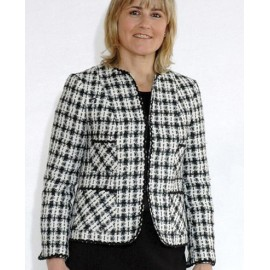 CHAQUETA TWEED DE PATA DE GALLO