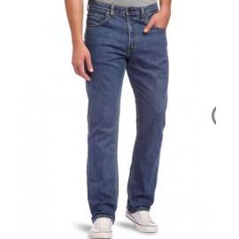 Lee Brooklyn Stretch Straight Leg Jeans Dark Stonewash
