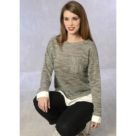 Camiseta mujer manga larga efecto doble