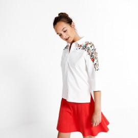 Camisa de mujer Surkana de manga francesa bordada