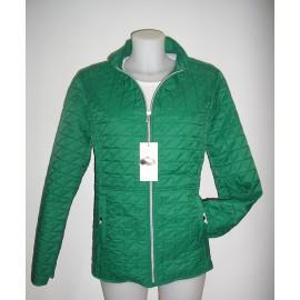 Cazadora guateada de mujer Roberto Bassi woman en color verde