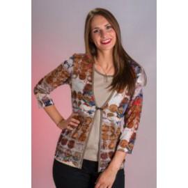 Camiseta de mujer Zero con estampado y efecto dos piezas
