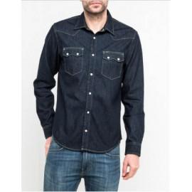 Camisa vaquera de hombre Lee RIDER  lisa azul