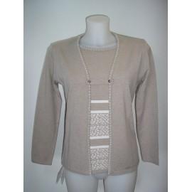 Jersey de mujer Juper con efecto dos piezas y manga larga