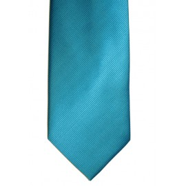 Corbata lisa turquesa