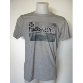Camiseta de manga corta de color gris para hombre.