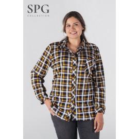 Camisa cuadros mujer tallas grandes de Spg-jenuan