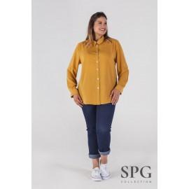 Camisa basica mujer tallas grandes de Spg-jenuan +colores