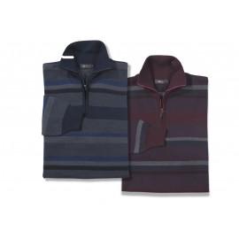 Jersey de lana fina merino de hombre G-54 azul marino con el cuello alto
