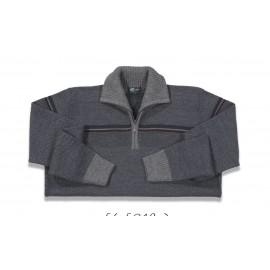 Jersey de hombre G54 gris con cuello perking