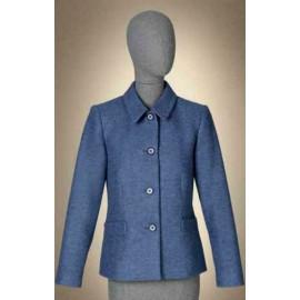 Chaqueta de mujer Estefania Rodriguez en color azul con bolsillos