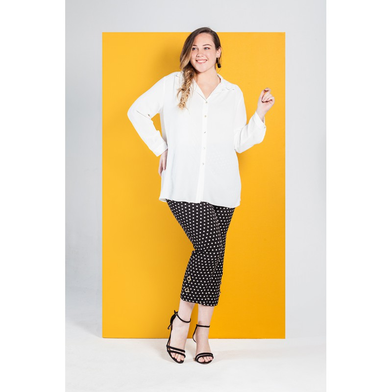 Camisa Blanca Mujer Spg Jenuan Tallas Grandes Modas Patricia