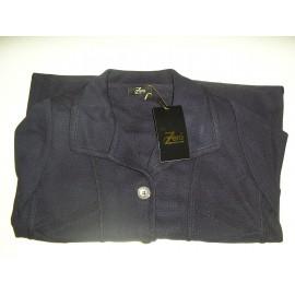 Chaqueta de punto azul marino de mujer Zero con bolsillos
