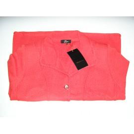Chaqueta de punto  roja de mujer Zero con bolsillos