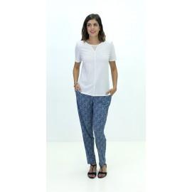 Pantalón estampado de mujer Boguar con cinturilla elástica