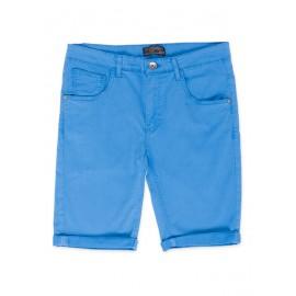 Bermuda en tejido de sarga azul hombre losan