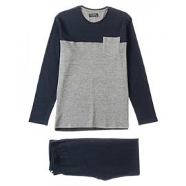 Pijama de algodón con estampado delantero hombre +colores