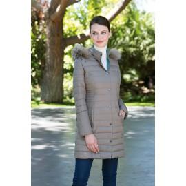 Plumífero de mujer largo con capucha +colores