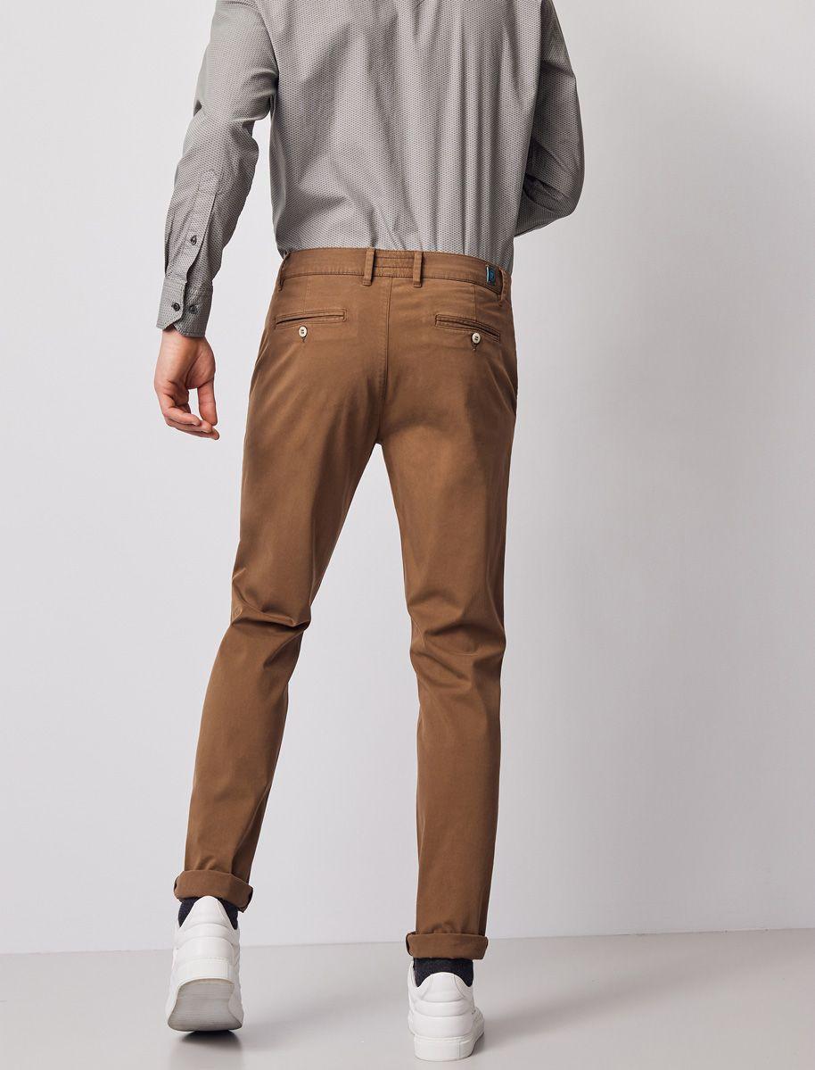 Pantalon Chino Pierre Cardin Hombre Camel Oscuro Modas Patricia