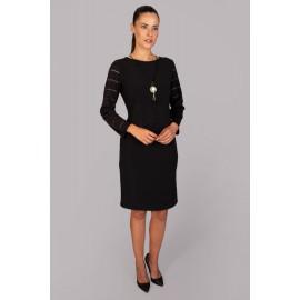Vestido negro de mujer chema blanco