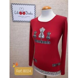 Camiseta algodón con faldon mujer Lili Dudu +colores