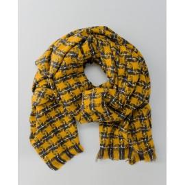 Bufanda bicolor con flecos Amarillo